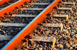 Απομονωμένη σιδηρόδρομοι φωτογραφία αποθεμάτων αντικειμένου Στοκ Φωτογραφίες