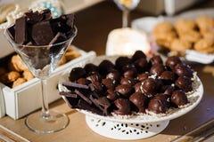 απομονωμένη σοκολάτα τρούφα γλυκών Στοκ φωτογραφία με δικαίωμα ελεύθερης χρήσης