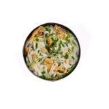 Απομονωμένη σούπα νουντλς κοτόπουλου pho του Ανόι στοκ εικόνα με δικαίωμα ελεύθερης χρήσης
