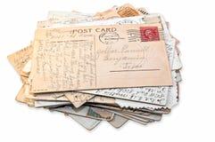 απομονωμένη στοίβα καρτών Στοκ Φωτογραφίες