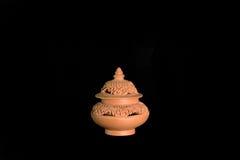 Απομονωμένη σόμπα τερακότας για aromatherpy Στοκ φωτογραφίες με δικαίωμα ελεύθερης χρήσης