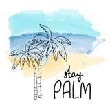 Απομονωμένη τροπική απεικόνιση watercolor νησιών ελεύθερη απεικόνιση δικαιώματος
