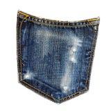 απομονωμένη τσέπη τζιν Στοκ φωτογραφία με δικαίωμα ελεύθερης χρήσης