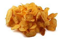 απομονωμένη τσιπ πατάτα Στοκ Εικόνα