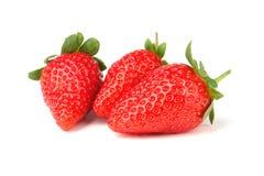 απομονωμένη φράουλα τρία Στοκ φωτογραφία με δικαίωμα ελεύθερης χρήσης