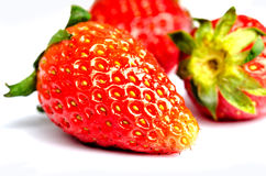 απομονωμένη φράουλα Στοκ φωτογραφίες με δικαίωμα ελεύθερης χρήσης