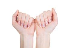 απομονωμένη χέρια γυναίκα στοκ εικόνες