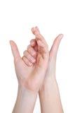 απομονωμένη χέρια γυναίκα στοκ φωτογραφία με δικαίωμα ελεύθερης χρήσης