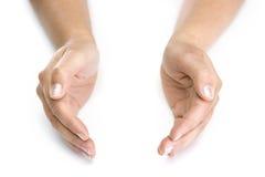 απομονωμένη χέρια λευκή γ&ups Στοκ εικόνα με δικαίωμα ελεύθερης χρήσης