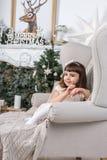 απομονωμένη Χριστούγεννα διάθεση τρία σφαιρών λευκό Στοκ Εικόνες