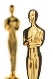 Απομονωμένη χρυσή Statuette κινηματογράφηση σε πρώτο πλάνο Στοκ Φωτογραφία