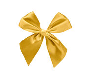 απομονωμένη χρυσός κορδέλλα Στοκ φωτογραφίες με δικαίωμα ελεύθερης χρήσης