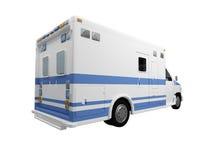 απομονωμένη ambulanceus πίσω όψη Στοκ φωτογραφία με δικαίωμα ελεύθερης χρήσης