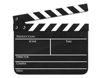 απομονωμένη clapboard παραγωγή κινηματογράφων Στοκ Φωτογραφίες