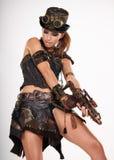 Απομονωμένη Steampunk γυναίκα Στοκ φωτογραφία με δικαίωμα ελεύθερης χρήσης