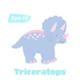 Απομονωμένη Triceratops διανυσματική απεικόνιση Στοκ Φωτογραφία