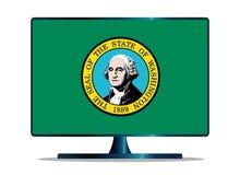 Απομονωμένη TV οθόνη σημαιών της Ουάσιγκτον Στοκ Φωτογραφία