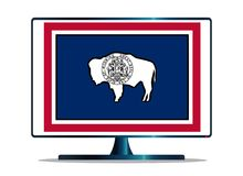 Απομονωμένη TV οθόνη σημαιών του Ουαϊόμινγκ Στοκ Εικόνα