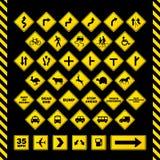 απομονωμένοι οι περιοχή πεζοί απαγόρευσαν τα περιορισμένα οδικά σημάδια επάνω απεικόνιση αποθεμάτων