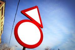 απομονωμένοι οι περιοχή πεζοί απαγόρευσαν τα περιορισμένα οδικά σημάδια επάνω Στοκ Φωτογραφίες