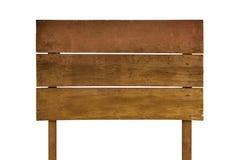 απομονωμένος άσπρος ξύλινος σημαδιών Ξύλινο παλαιό σημάδι σανίδων Στοκ φωτογραφίες με δικαίωμα ελεύθερης χρήσης