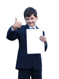 απομονωμένος εντάξει schoolboy εμφανίζει Στοκ φωτογραφία με δικαίωμα ελεύθερης χρήσης