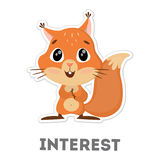 Απομονωμένος ενδιαφερόμενος σκίουρος Στοκ Φωτογραφία