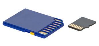 απομονωμένος κάρτες μικροϋπολογιστής SD Στοκ Εικόνες