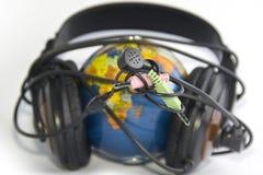 απομονωμένος κάσκα κόσμο& Στοκ εικόνες με δικαίωμα ελεύθερης χρήσης