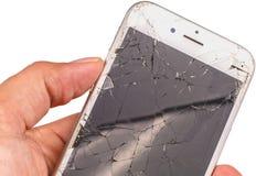 Απομονωμένος κοντά επάνω ενός iphone 6S του σημαδιού Apple Inc Στοκ Φωτογραφίες