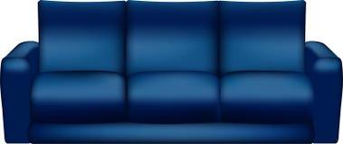 Απομονωμένος μπλε καναπές - διανυσματική απεικόνιση Στοκ Εικόνα
