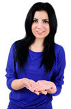 Απομονωμένη περιστασιακή γυναίκα Στοκ εικόνες με δικαίωμα ελεύθερης χρήσης