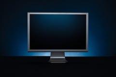 απομονωμένος παρουσίαση μηνύτορας υπολογιστών ανασκόπησης πέρα από το λευκό Στοκ Εικόνα