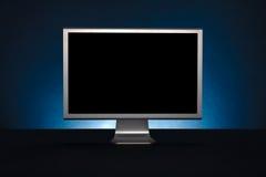 απομονωμένος παρουσίαση μηνύτορας υπολογιστών ανασκόπησης πέρα από το λευκό Στοκ Εικόνες