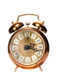απομονωμένος ρολόι τρύγος ορείχαλκου συναγερμών στοκ εικόνες
