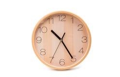 απομονωμένος ρολόι τοίχο Στοκ Εικόνες