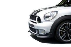 Απομονωμένος στο άσπρο υπόβαθρο του προτύπου 2018 αυτοκινήτων του Mini Cooper Di στοκ εικόνες με δικαίωμα ελεύθερης χρήσης