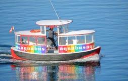 Απομονωμένος στο Βανκούβερ Aquabus και καπετάνιος Στοκ Εικόνα