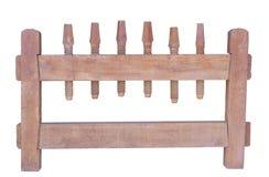 Απομονωμένος στο λευκό Τύπο βιδών υποβάθρου ξύλινο Στοκ Εικόνες