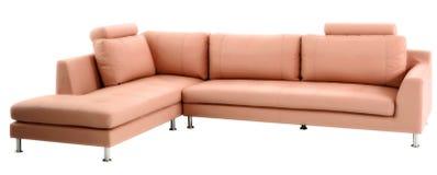 Απομονωμένος σύγχρονος καναπές Στοκ Φωτογραφίες