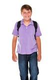 απομονωμένος τσάντα schoolboy Στοκ Εικόνα