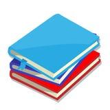 Απομονωμένος των βιβλίων - διανυσματική απεικόνιση Στοκ Εικόνα