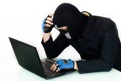 Απομονωμένος χάκερ μη-επιτυχίας Στοκ Εικόνες