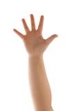 απομονωμένος χέρι κυματι&si Στοκ εικόνες με δικαίωμα ελεύθερης χρήσης