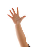 απομονωμένος χέρι κυματι&si Στοκ Εικόνες