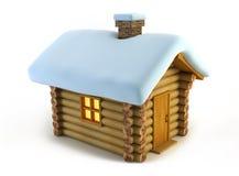 απομονωμένος loghouse απεικόνιση αποθεμάτων