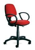 απομονωμένο έδρα κόκκινο γραφείων στοκ φωτογραφία με δικαίωμα ελεύθερης χρήσης
