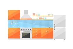 Απομονωμένο έπιπλα διανυσματικό εικονίδιο κουζινών Στοκ Εικόνες
