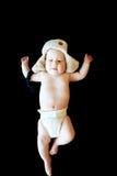 Απομονωμένο αθώο μωρό Στοκ Φωτογραφίες