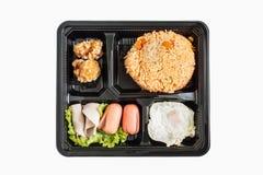 απομονωμένο αμερικανικό τηγανισμένο ρύζι Στοκ Εικόνες